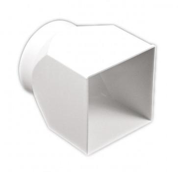 Соединитель 126*126/D 125 центральный плоский/круглый