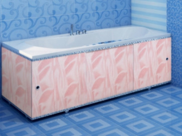 Экран для ванны ПРЕМИУМ А (алюм. профиль) 1,5 розовый