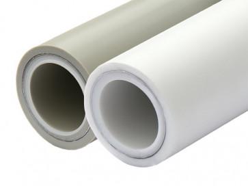 Труба 25 PN25 (армир. внутреннее) без зачистки Dizayn OXY-plus белый