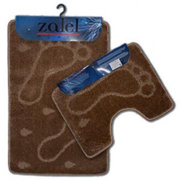 Набор ковриков для ванны 2шт ZALEL 55*90 коричневый