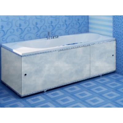 Экран для ванны ПРЕМИУМ А (алюм. профиль) 1,7 облака голуб.