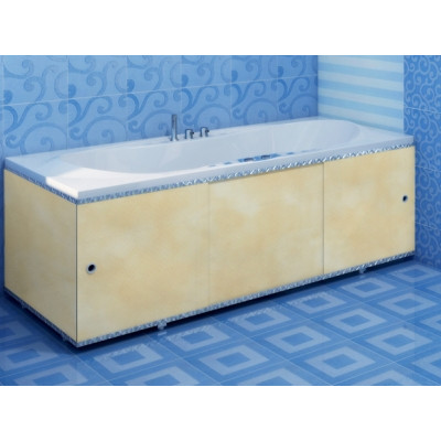 Экран для ванны ПРЕМИУМ А (алюм. профиль) 1,5 песочный