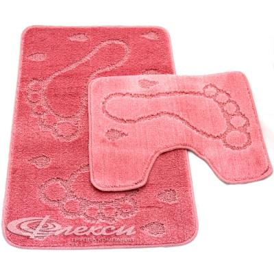 Набор ковриков для ванны 2шт ZALEL 60х100 розовый
