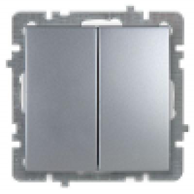 Выкл. серебро с/п 2кл. механизм NILSON TOURAN (Thema)