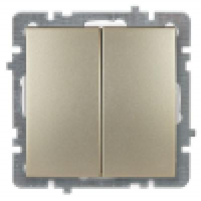 Выкл. золото с/п 2 кл. механизм NILSON TOURAN (Thema)