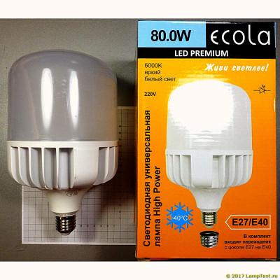 Лампа Ecola Premium LED 80W 220V 4000K