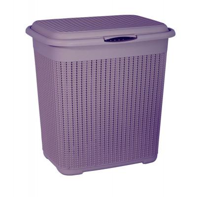 Корзина для белья Вязание 40л. (Пурпурный) М2602