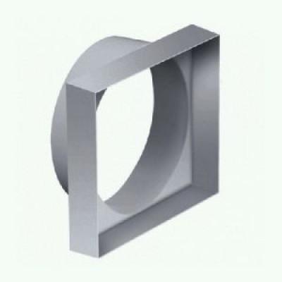 Переходник с квадрата 100 на круг D100 10КВ ПВХ