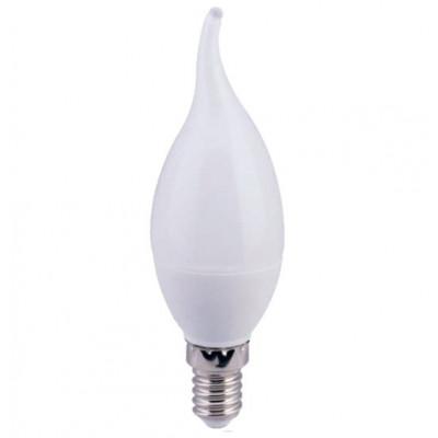 Лампа Ecola candle LED 6,0W 220V E27 4000K свеча на ветру (композит) 118x37