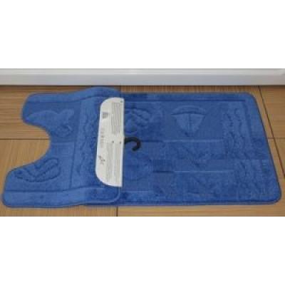 Набор ковриков для ванны 2шт ZALEL 55*90 голубой