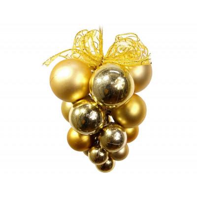 Подвеска из шаров Т527-1 Виноград 22см Золото