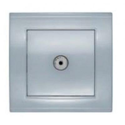 Розетка TV серебро Бриллиант СП, 16А, 220В (7949827)