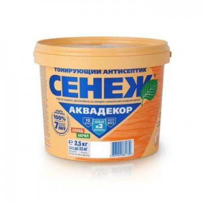 Антисептик тонирующий СЕНЕЖ-АКВАДЕКОР сосна 2,5кг алкидно-акрилатный с воском