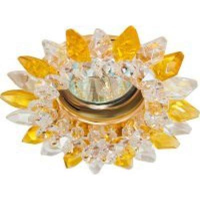 Светильник CD2315 прозр.-желтый, золото с лампой MR16 G5.3 Feron