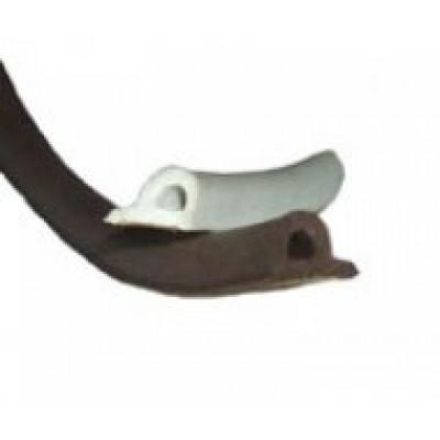 Уплотнитель резиновый профиль Р белый, коричневый