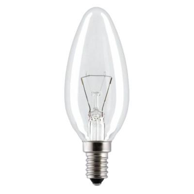 Лампа накал, Космос свеча Е14 40W прозрачная