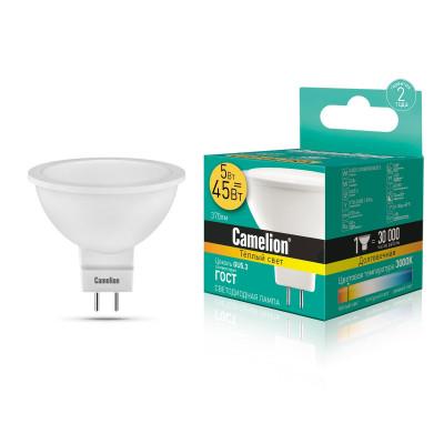 Лампа LED 5 W 4500K MR16 220Вт Camelion