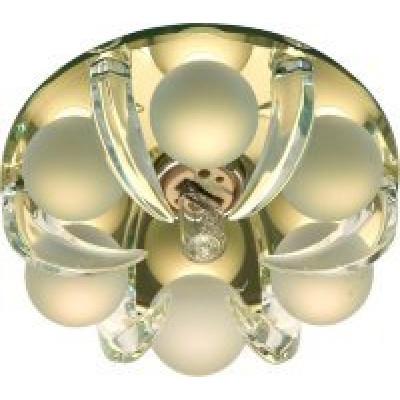 Светильник CD2530 прозр.-матовый, золото с лампой JCD9 35W G9 Feron