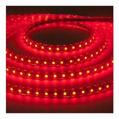 Лента светодиодная 220V 4,4W 60Led 3528 IP65 красный
