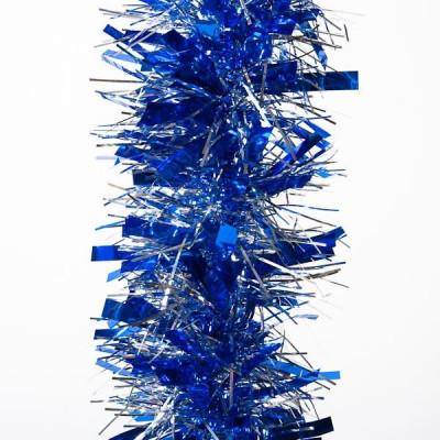 Мишура YT15-3D синий+серебро 2м d-8,5см