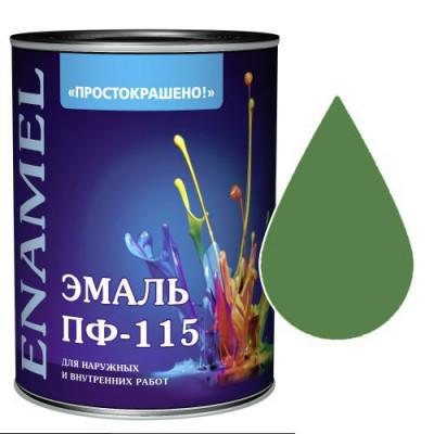 """Эмаль ПФ-115 """"Простокрашено"""" зелёная 1,9 кг"""