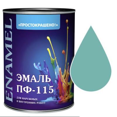 """Эмаль ПФ-115 """"Простокрашено"""" бирюзовая 1,9 кг"""