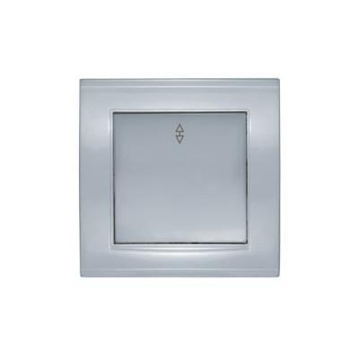 Выключатель 1кл. прох. серебро Бриллиант СП, 10А, 220В (7949629)
