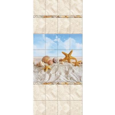 Панель ПВХ 2,7*0,25м Песчаный пляж