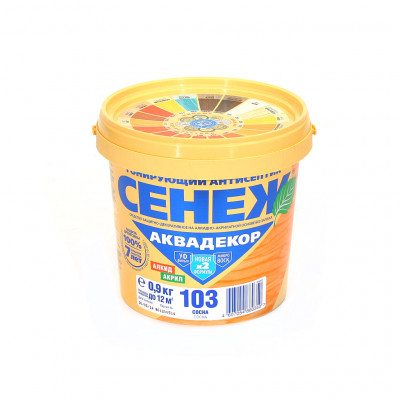 Антисептик тонирующий СЕНЕЖ-АКВАДЕКОР сосна 0,9кг алкидно-акрилатный с воском