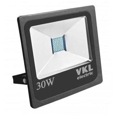 Прожектор LED 30W VLF4-30-6500-B 6500К 2400Лм 220V IP65 черный VKL electric