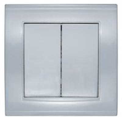 Выключатель 2кл. серебро Бриллиант СП, 10А, 220В (7949650)