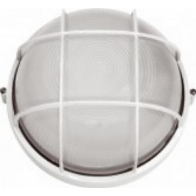 Светильник 1301S белый влагозащ. с решеткой 230V/60W