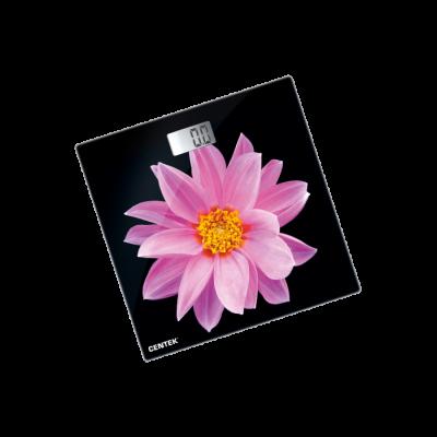 Весы напольные электрон Centek СТ-2416 (Pink Flower) 180 кг 3D