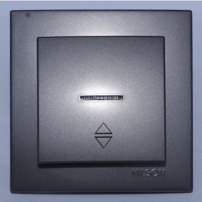 Выкл. антрацит.1кл.проходной NILSON THEME с подсветкой