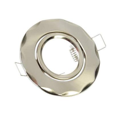 FOPZA Светильник встраиваемый №9 MR16 d90мм,волнообразный с рег, угл, металл