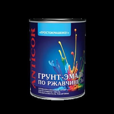 Грунт-эмаль 3 в 1 1,9 кг синяя Простокрашено
