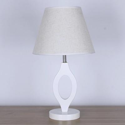 Настольная лампа 7330  белый/белый абажур h47см 1x60W Е27 ZNG18