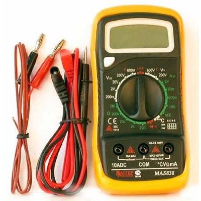 Мультиметр МАS838, АС(600V) DC(600V/10A) диод-тест, прозвон,2-3 изм