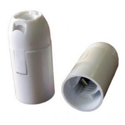 Патрон Е14 пластиковый подвесной, термостойкий пластик, белый, EKF