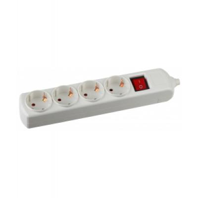 Колодка Эра для удлинителя 4-я с/з с выкл.