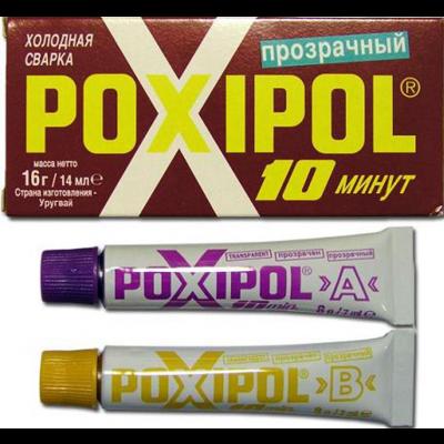 """Холодная сварка """"POXIPOL"""" прозрачный, металл"""