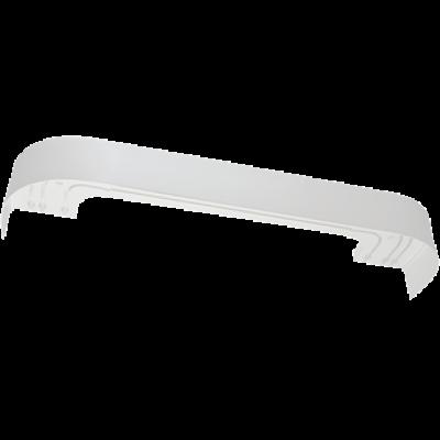 Витраж карниз 3-х рядный 2,4 м, белый глянец хром