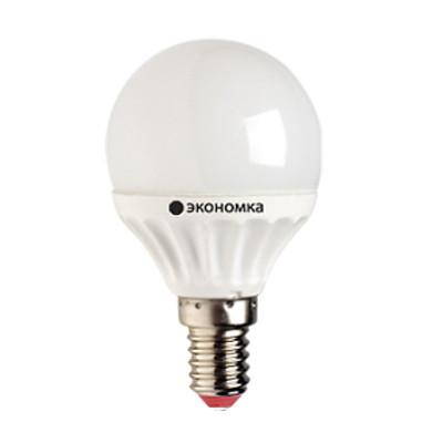 """Лампа LED 7.5Вт Е14 4500К""""Экономик"""" GL45 (шар) Космос LkecLED 7,5wGL45E1445"""