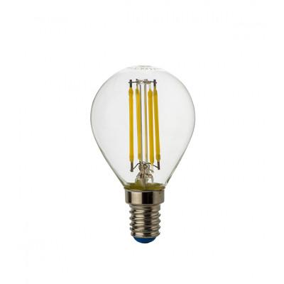 Лампа LED Филамент 8Вт Е14 шар 4500К ЭКОНОМКА