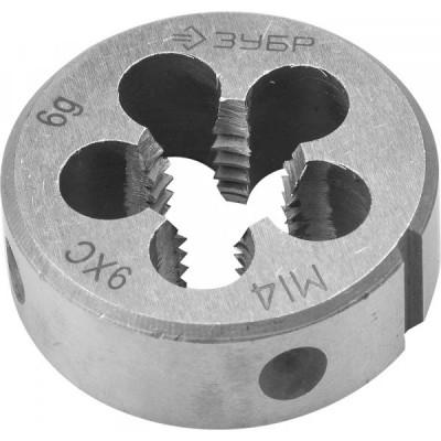 Плашка М14х2,0 мм Зубр 9ХС