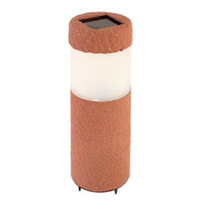 Фонарь садовый на солч. батареях СА950-1/5 иск. камень 6,6*6,6*29,5см