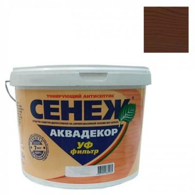 Антисептик тонирующий СЕНЕЖ-АКВАДЕКОР дуб 2,5кг алкидно-акрилатный с воском (