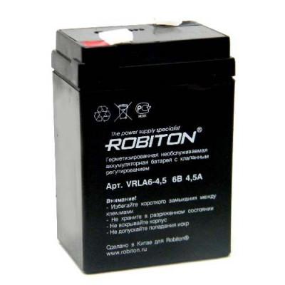 Аккумулятор Robiton VRLA 6-4.5 (4500 mAh 6V)
