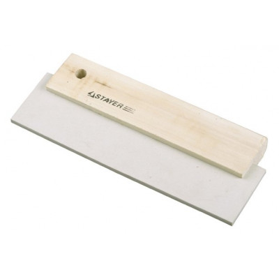 Шпатель резиновый для фуговки 200мм белый