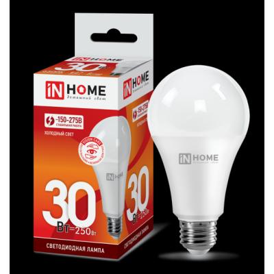 Высокомощная лампа 30Вт Е27 (2700Лм) 6500К IN HOME